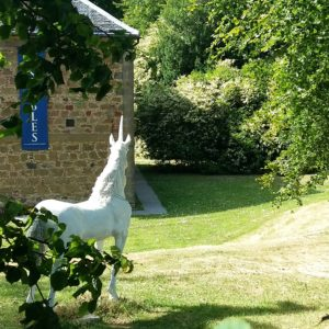 Cromarty: old Stables with Unicorn